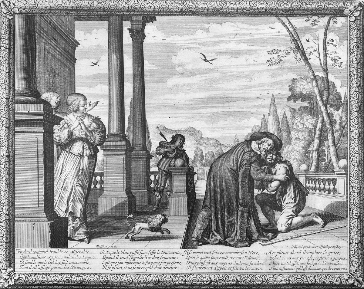 Gravures XVIIè : Histoire De l'Enfant Prodigue Suite Complète de Six estampes Par Abraham Bosse-photo-4