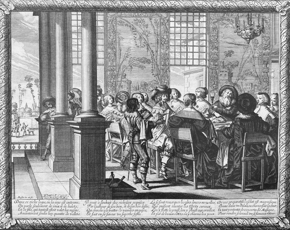 Gravures XVIIè : Histoire De l'Enfant Prodigue Suite Complète de Six estampes Par Abraham Bosse-photo-2