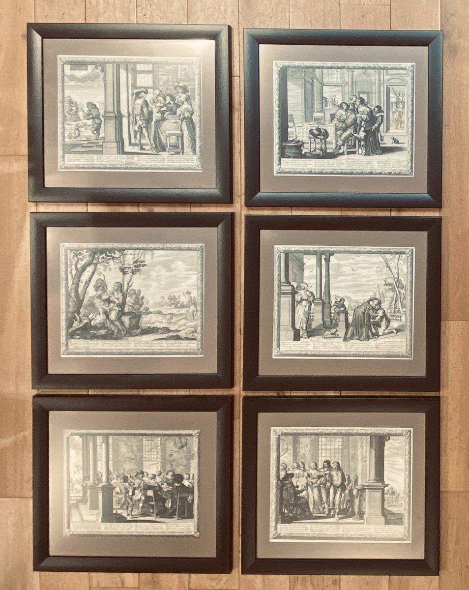 Gravures XVIIè : Histoire De l'Enfant Prodigue Suite Complète de Six estampes Par Abraham Bosse-photo-3