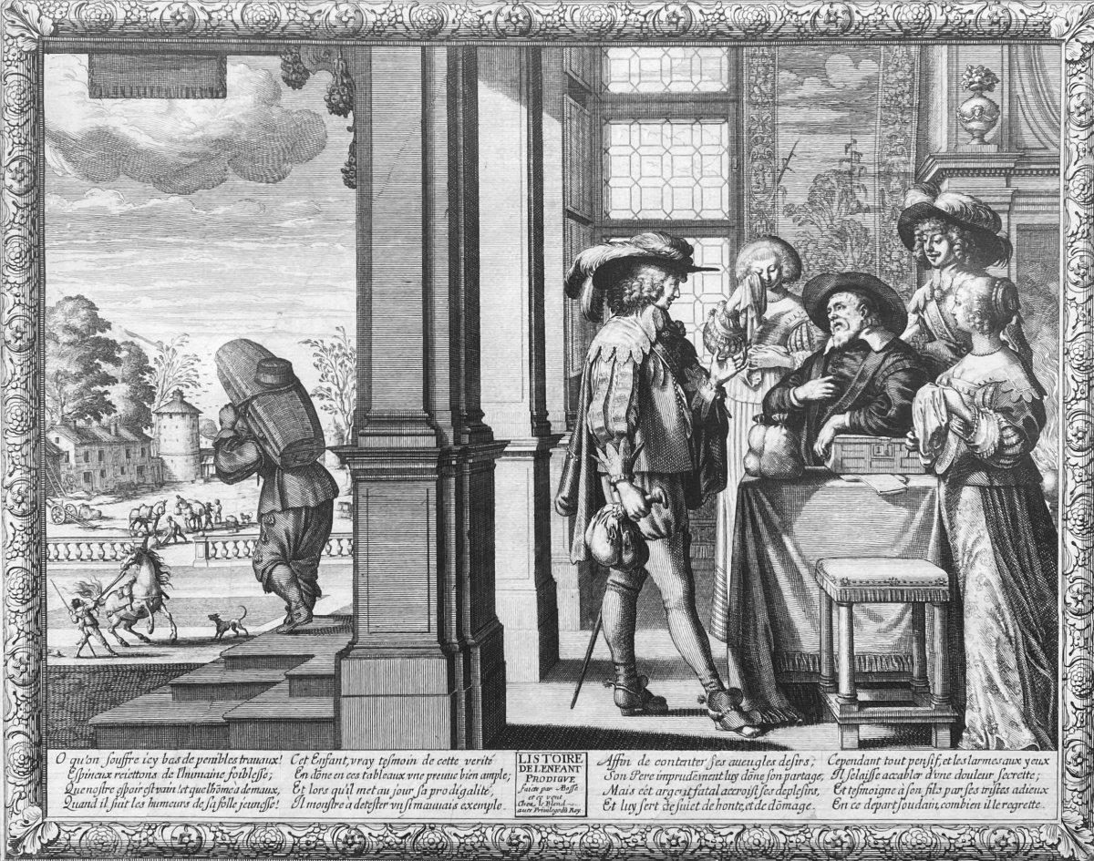 Gravures XVIIè : Histoire De l'Enfant Prodigue Suite Complète de Six estampes Par Abraham Bosse