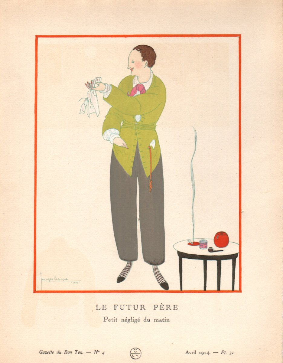 Stencil By Georges Lepape: The Future Father