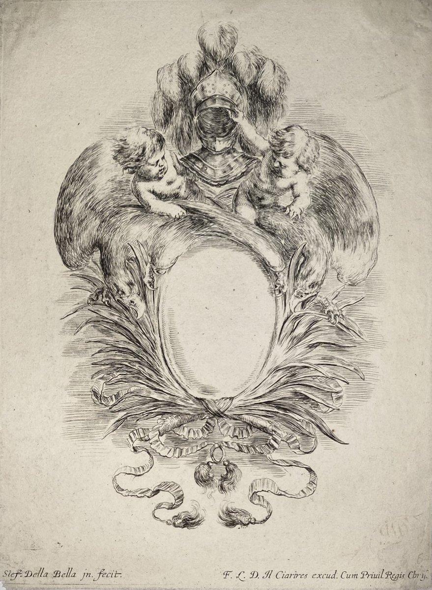 Estampe ancienne d'Ornement De Stefano Della Bella