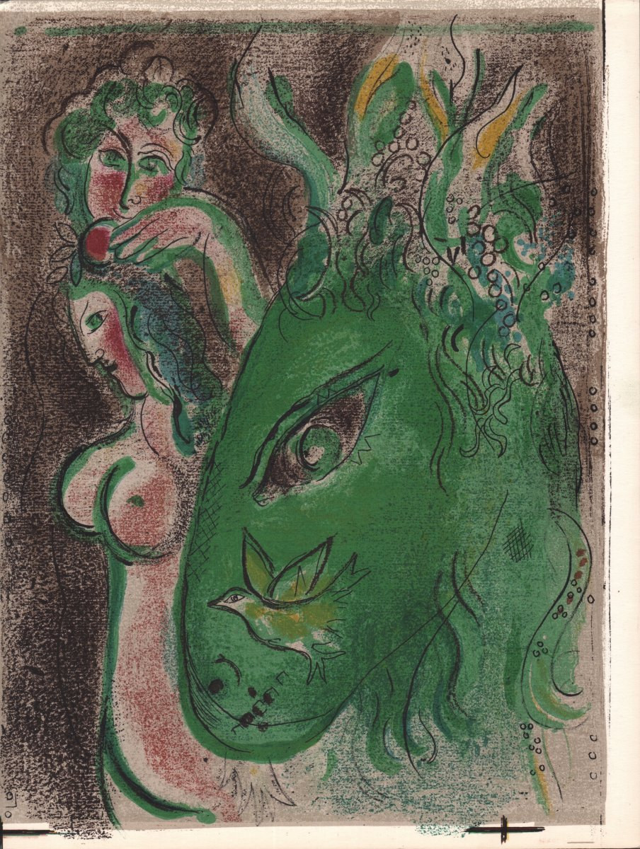 Original Lithograph By Marc Chagall: Paradise