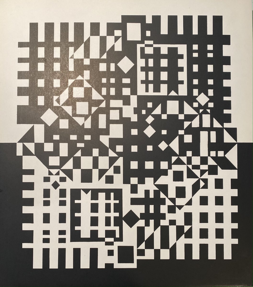 Original Serigraph By Victor Vasarely: Pillich 2