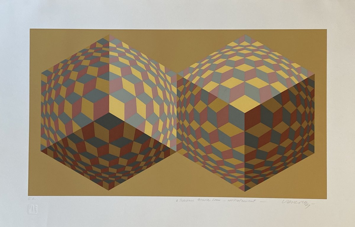 Original Serigraph Signed By Victor Vasarely