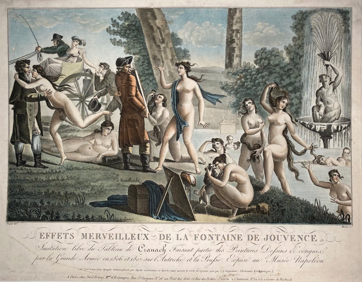 Early 19th Century Aquatint: The Fountain Of Youth