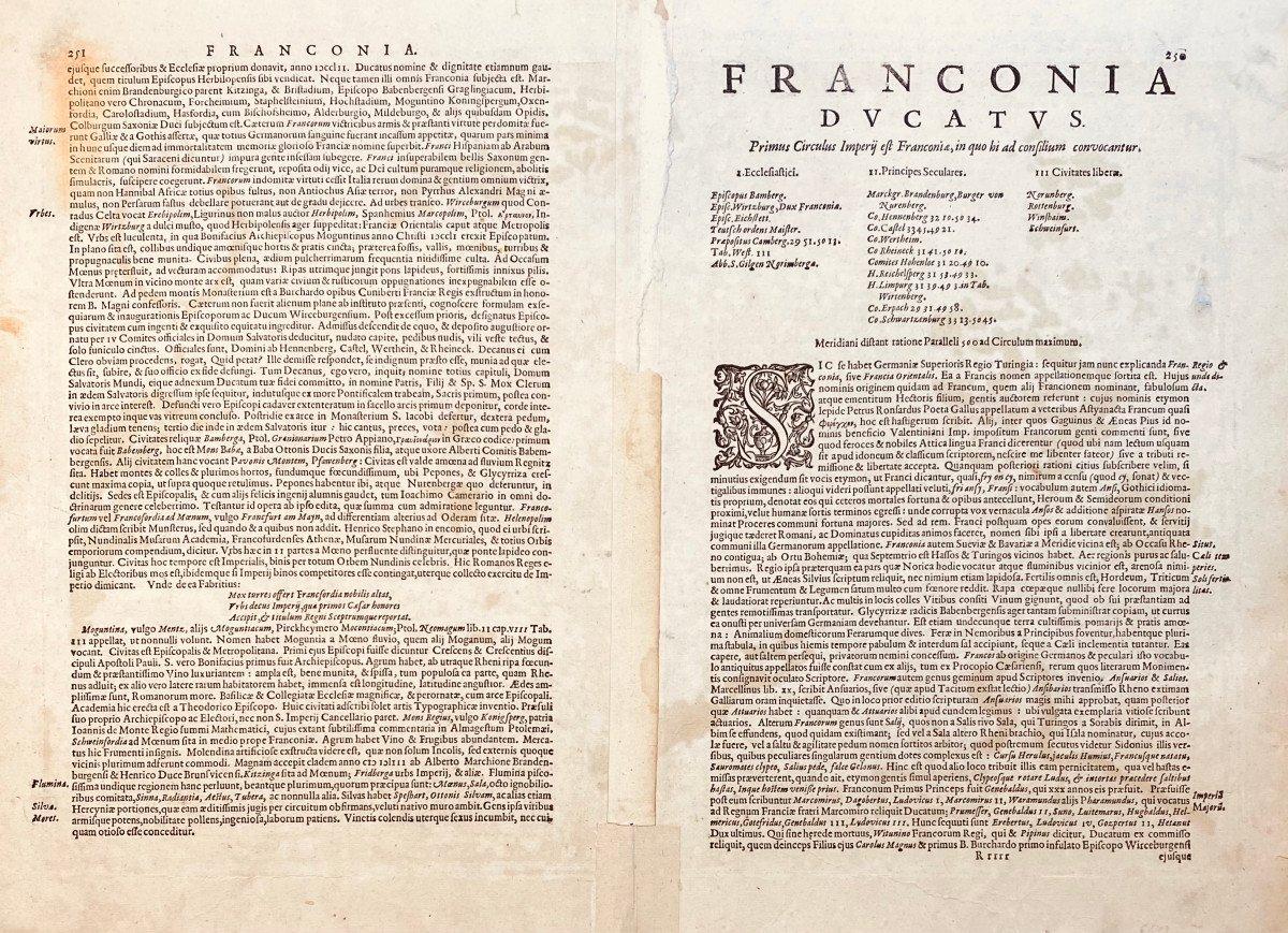 17th Century Card From Mercator: Franckenlandt. Francia Orientalis.-photo-2