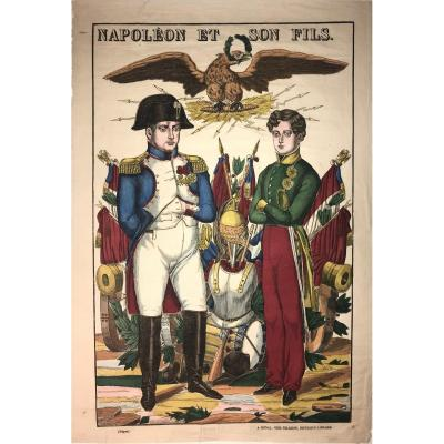 Beautiful Imaging On Laid Paper By Pellerin: Napoleon And His Son