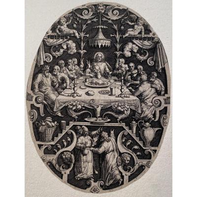 Estampe De Johannes Sadeler : La Cene