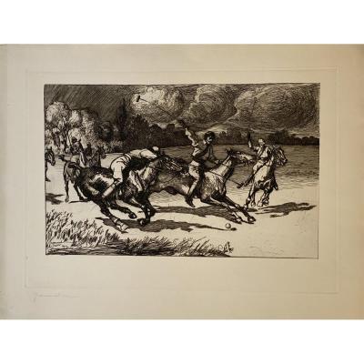 Estampe De Piere-georges Jeanniot : La Partie De Polo