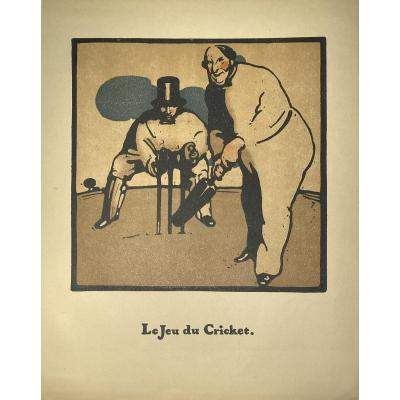 Print By William Nicholson: The Game Of Cricket