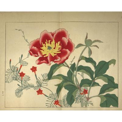 Japanese Print: Flower Of The Four Seasons
