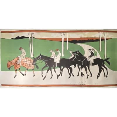 Grande Lithographie : Les Jockeys