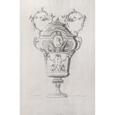 Eau-forte XVIIIè : Vase
