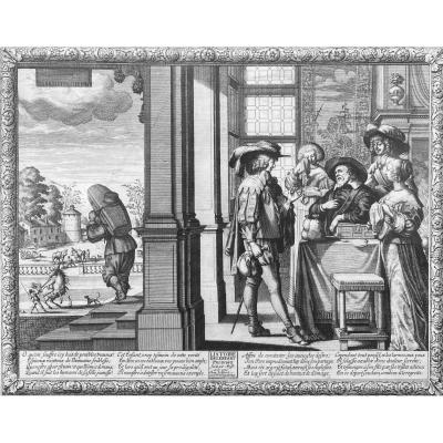 Seventeenth Engravings: History Of The Prodigal Son Complete Suite Of Six Prints By Abraham Bosse