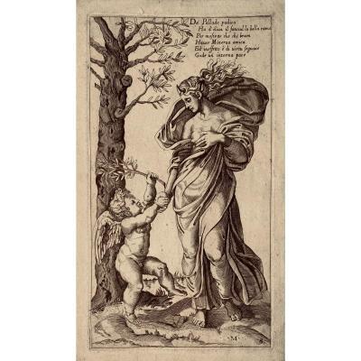 Estampe Ancienne De Lorenzo De Musi : La Paix