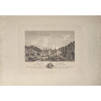 Old Engraving By Canali After Ozanne: The Port Of Morlaix