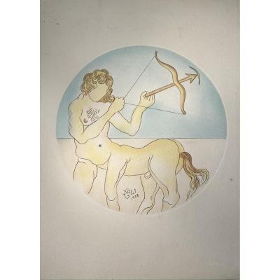 Estampe De Dali : Sagittaire