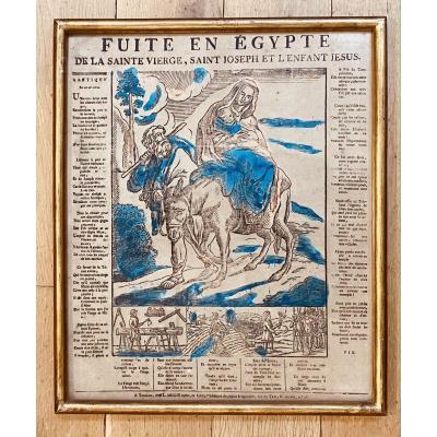 Imagerie De Toulouse Sur Papier Vergé : La Fuite En Egypte