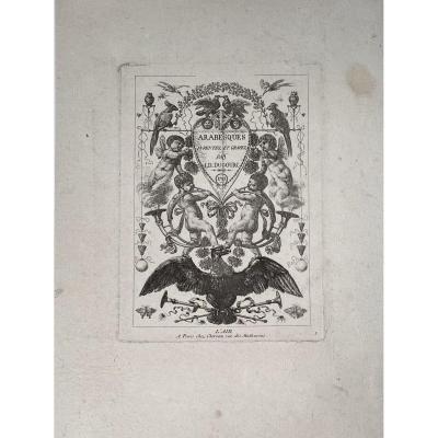 Suite Complete De Quatre Planches d'Ornements XVIIIè Par Dugourc : Les Quatre Elements