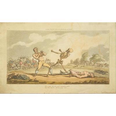 Aquatinte De Rowlandson : How Vain Are All Your Triumphs Past