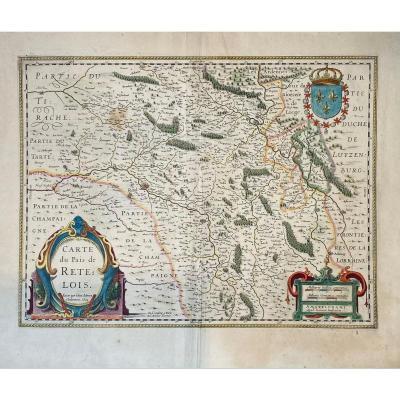Carte Début XVIIè De Jubrien :  Pais De Retelois ( Environs De Rethel )