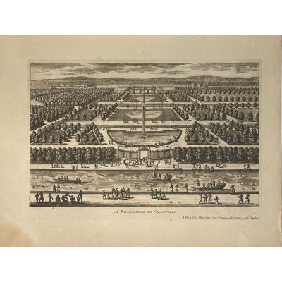 Gravure XVIIè De Perelle : La Faisanderie De Chantilly