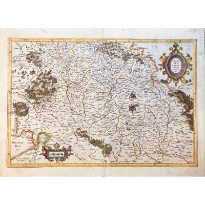 Carte Du XVIIè De Mercator : Franckenlandt. Francia Orientalis.