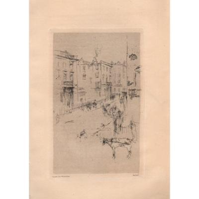 Whistler Print: Alderney Street Or A Street In London
