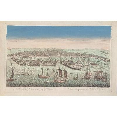 XVIIIth Optical View: Perspective View Of The City Of Venice