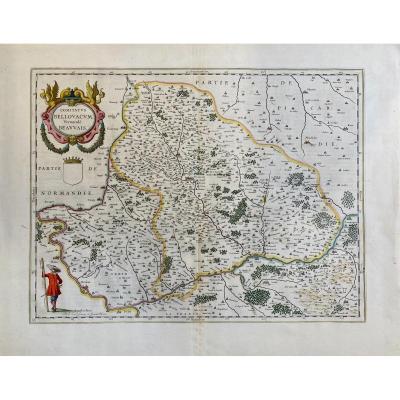 Carte XVIIè De Blaeu : Comitatus Bellovacum Vernaculè Beauvais