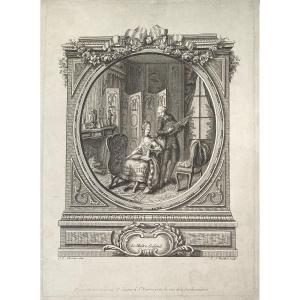 Gravure XVIIIème De Desrais : Le Maitre Galand ( Sic )