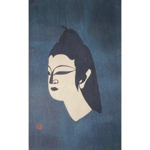 Estampe Japonaise XXè : Bouddha