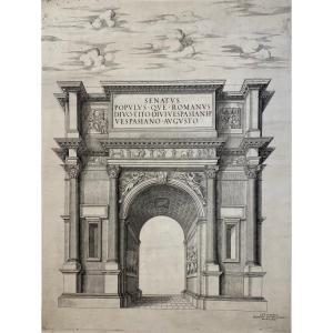 Estampe XVIè éditée Par Lafrery : l' Arc De Titus