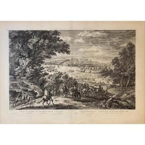 XVIIth Engraving By Bauduins: Veue Du Chasteau De Versailles Du Coste De l'Orangerie (sic)