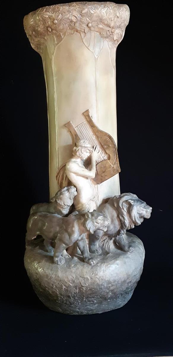 Lavergne & Goldscheider : Vase Orphee Circa 1898-1899 ( 79cm )