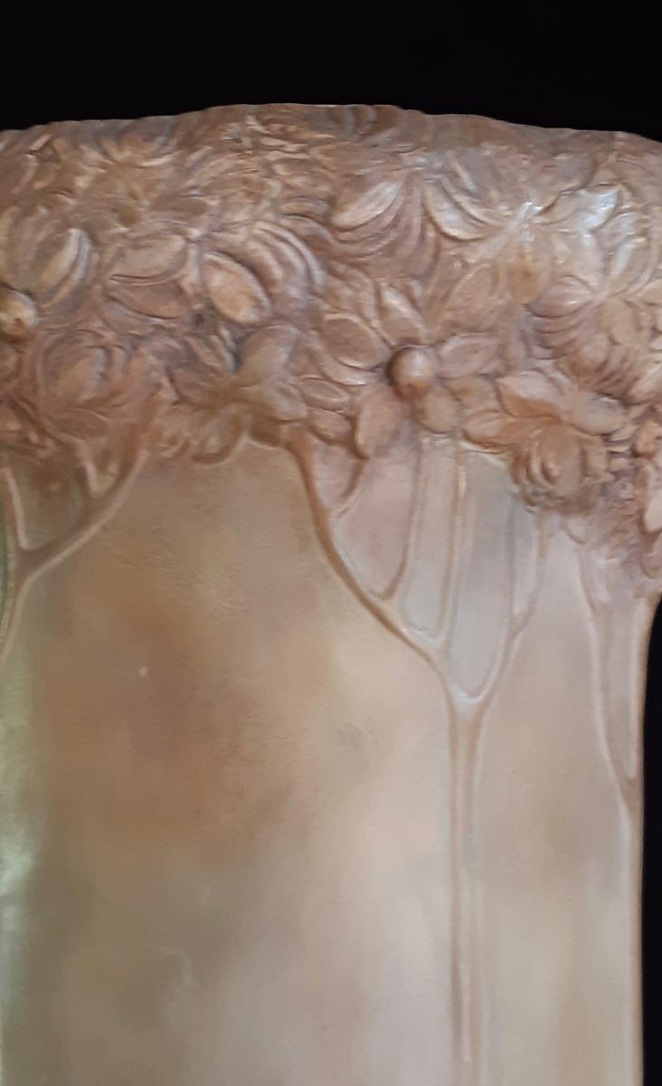 Lavergne & Goldscheider: Vase Orphee Circa 1898-1899 (79cm-photo-1