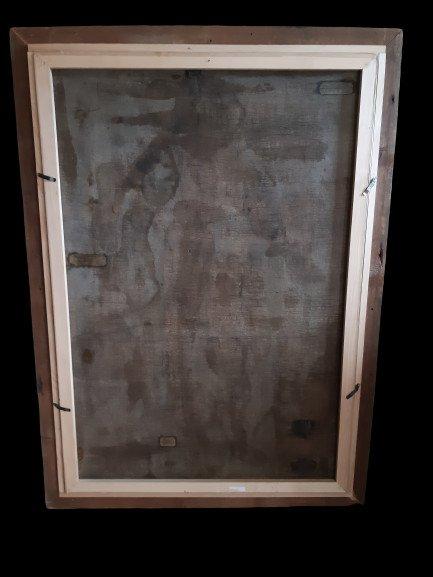 Grand tableau d'une Ecole Française XVIIIème, Sainte Catherine d'Alexandrie ( H 129 cm /  L 89 cm )-photo-6