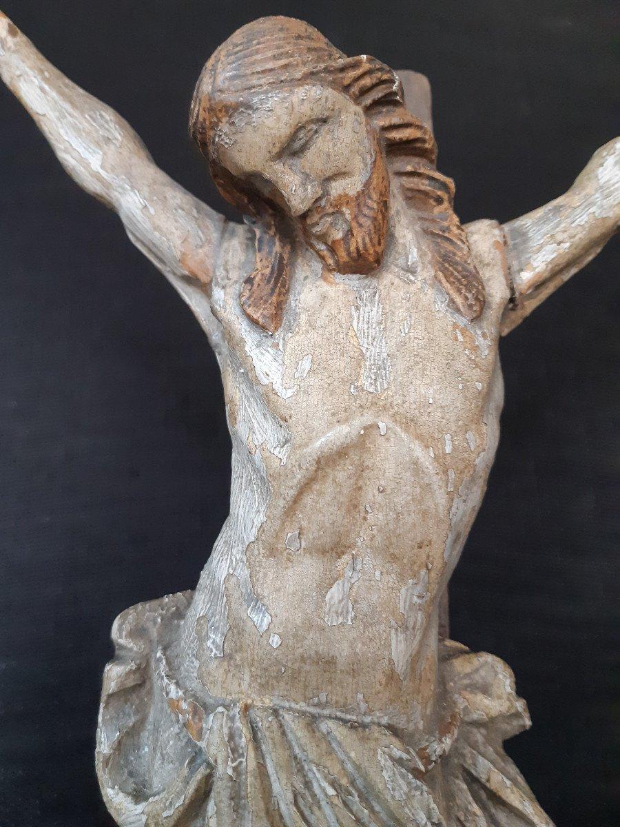 Sculpture En Bois Sculpté Début XVIIIème, Corpus Christi (H 30 cm)-photo-3