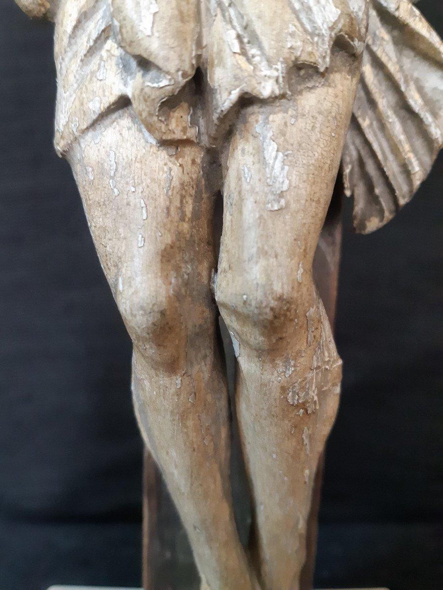 Sculpture En Bois Sculpté Début XVIIIème, Corpus Christi (H 30 cm)-photo-2