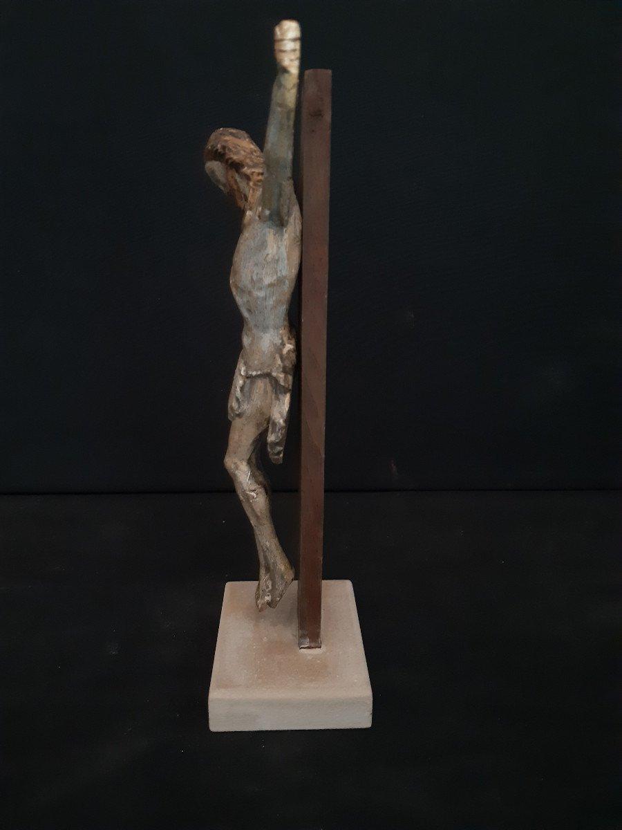 Sculpture En Bois Sculpté Début XVIIIème, Corpus Christi (H 30 cm)-photo-4