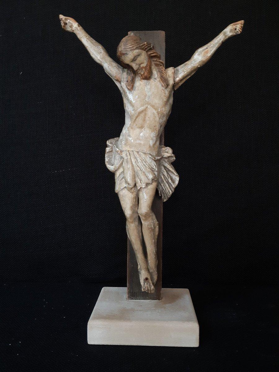 Sculpture En Bois Sculpté Début XVIIIème, Corpus Christi (H 30 cm)