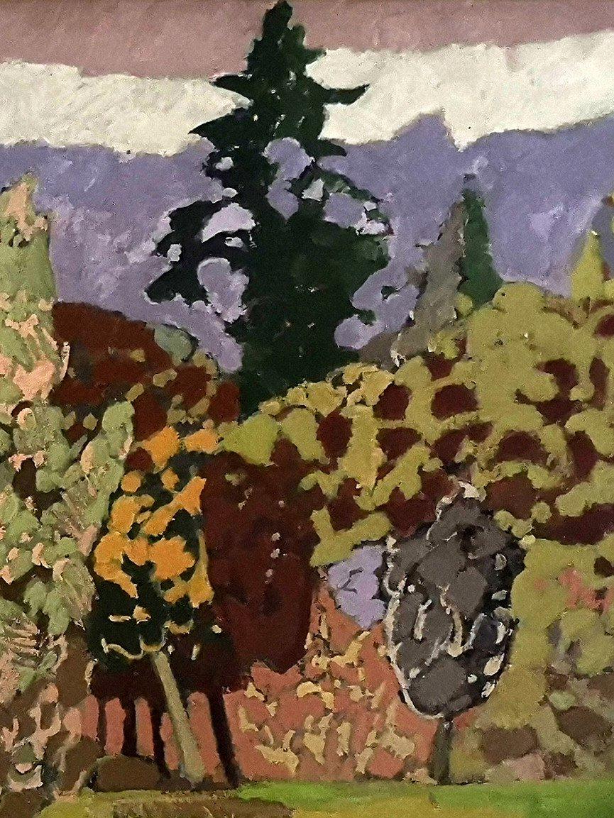 """Joan-Carles Roca Sans (Barcelona 1946),  """"Le bois des mystères, 1979 """" ( H 60 / L 81 cm)-photo-1"""