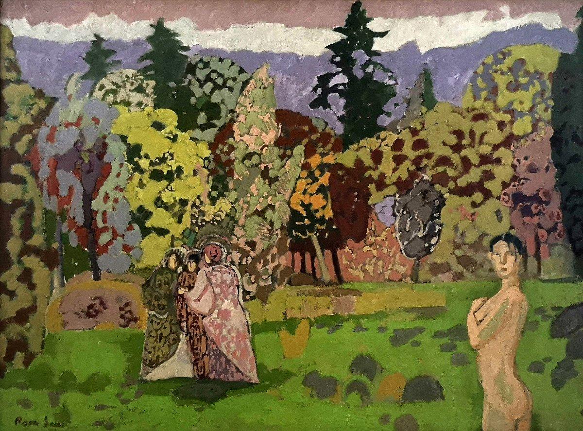 """Joan-Carles Roca Sans (Barcelona 1946),  """"Le bois des mystères, 1979 """" ( H 60 / L 81 cm)"""