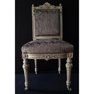 Suite Six Chairs Louis XVI Style  Nineteenth
