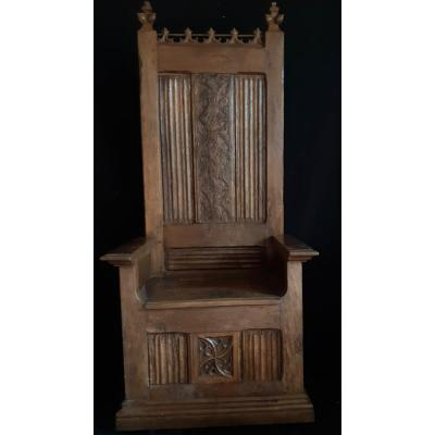 Cathedra Composed In Part Of Gothic Elements (h 170 Cm)