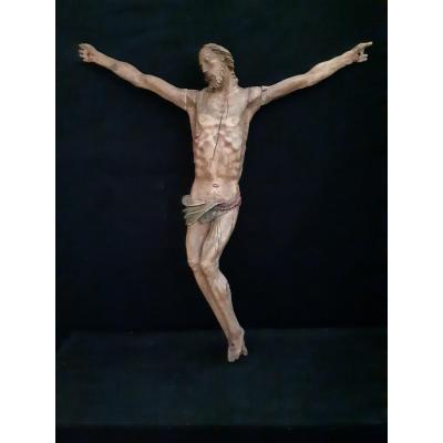 Grand Corpus Christi En Bois,  Allemagne  XVIème (H 93 cm L 85 cm)