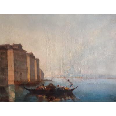 Ecole Française Début XXème, Vue De Venise (H 54 / L 73 Cm)