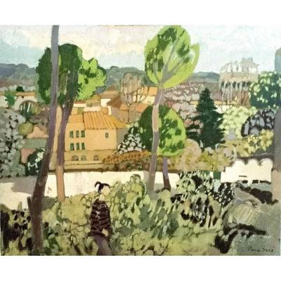 Joan Carles Roca Sans (Barcelona 1946), La Coulée verte 1977 (H 60 / L 73 cm)