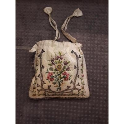 Working Bag In Beige Silk